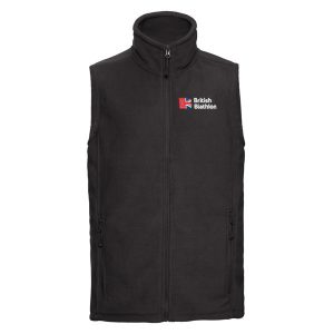 British Biathlon Fleece Bodywarmer Black