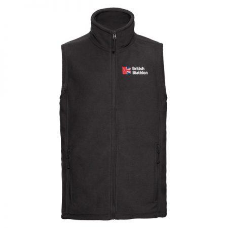 British Biathlon Fleece Bodywarmer Black